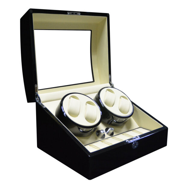 Keedz Watch Winder Elegance V1 for 4 watches black/beige